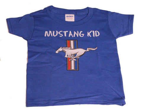 Ford Mustang kids toddler shirt in royal blue