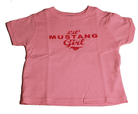 "Ford Mustang ""Lil' Mustang Girl"" pink toddlers' shirt"