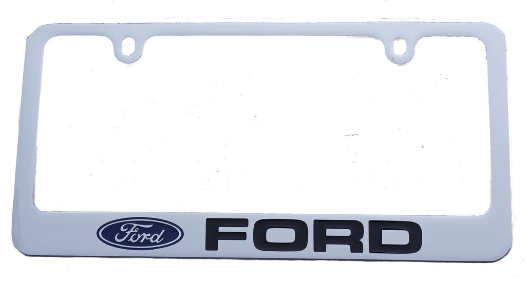 Ford license plate frame in chrome