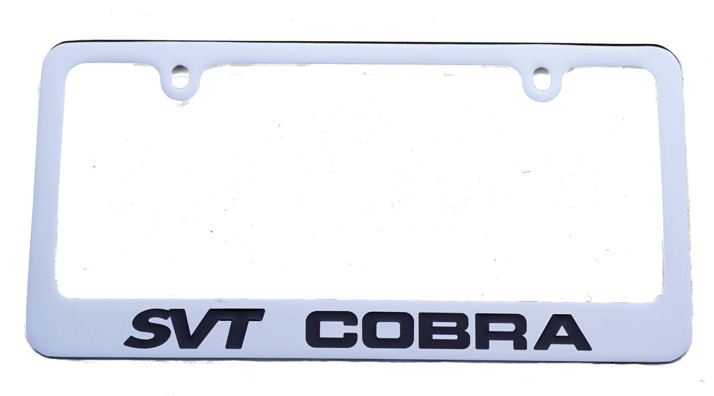 Ford Mustang Quot Svt Cobra Quot License Plate Frame In Chrome