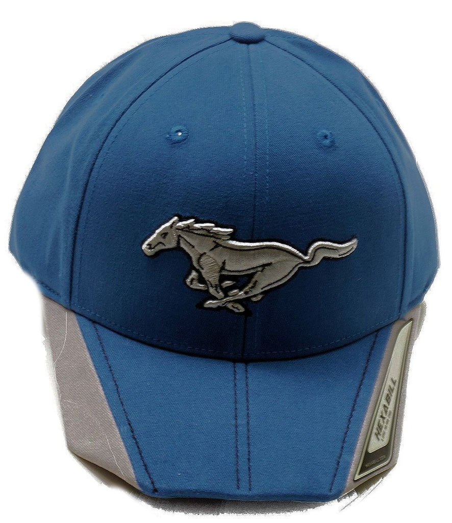 Ford mustang royal blue hex brim hat