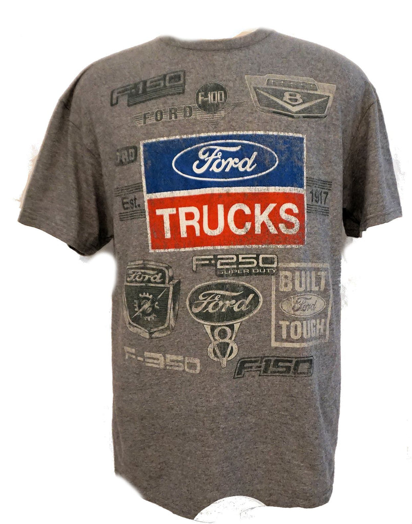 Ford trucks multi logo grey shirt
