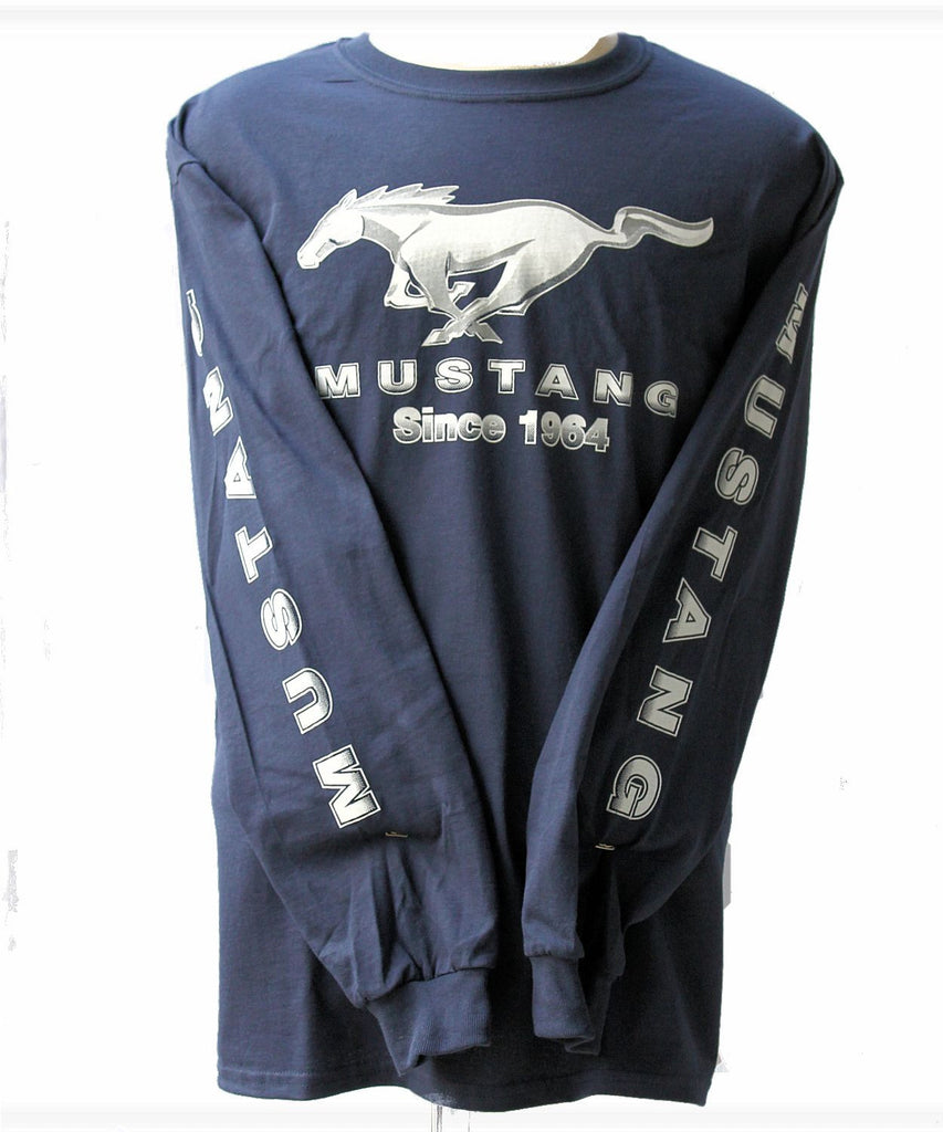Ford mustang long sleeve shirt in navy blue