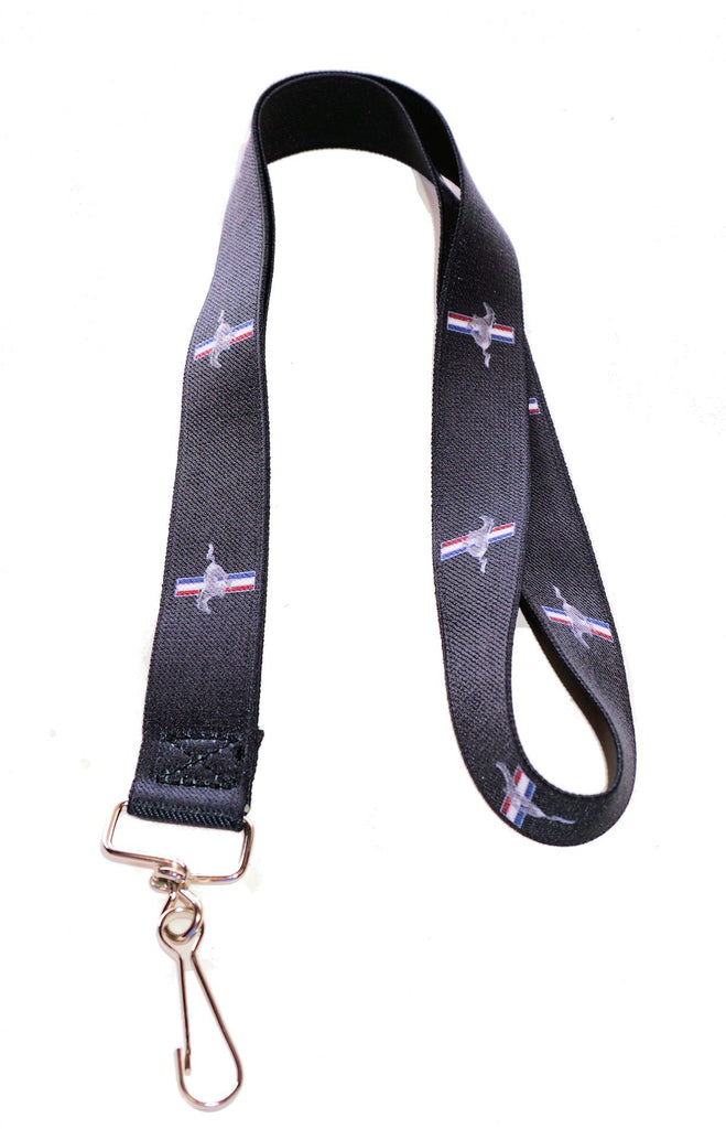 Ford Mustang black lanyard with tri bar logo