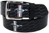 Mustang Leather belt osfm with tri bar logo