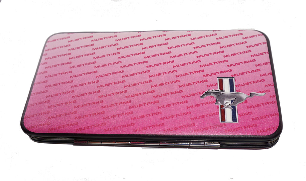 Ford Mustang ladies clutch wallets (Pink tribar logo)