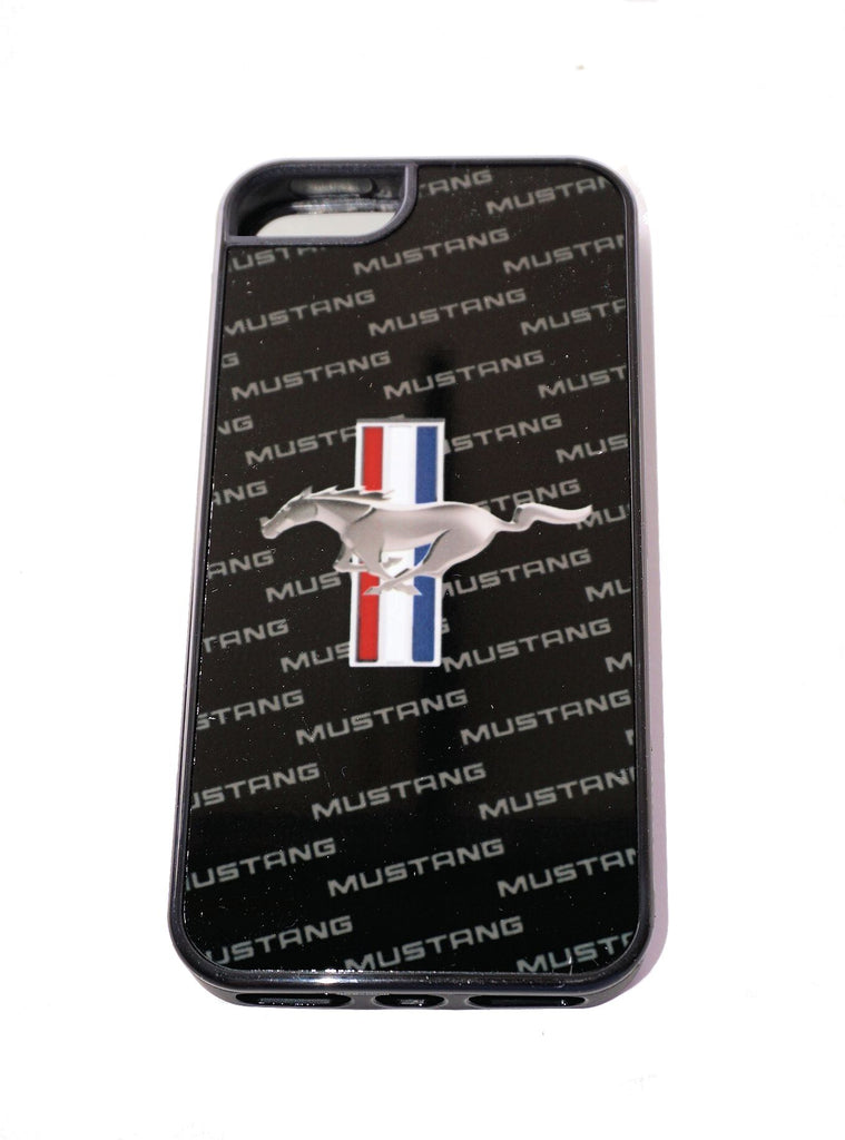 "Ford Mustang ""repeat"" style logo phone cover for Samsung Galaxy S-5"