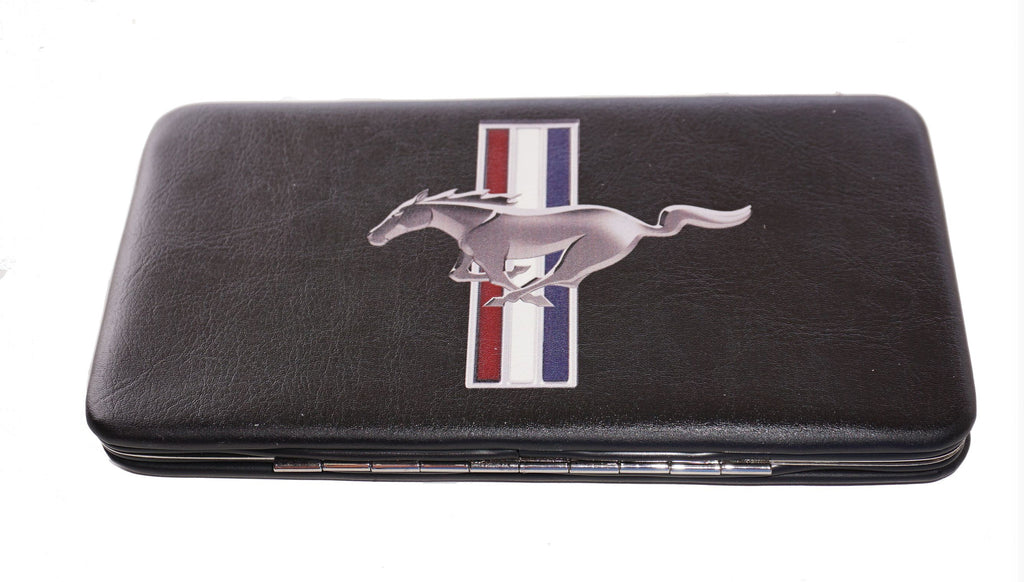 Ford Mustang ladies clutch wallets (tri bar logo)