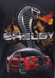 Shelby Mustang flame t shirt in black