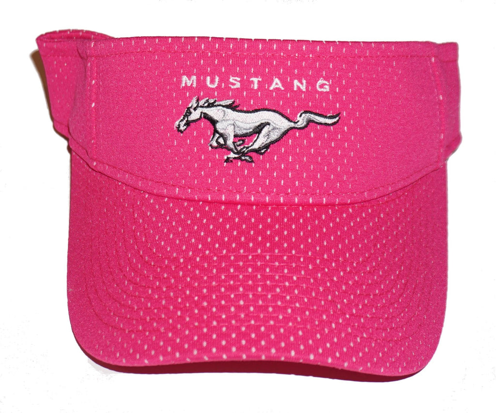 Ford Mustang visor in bright pink with mesh overlay