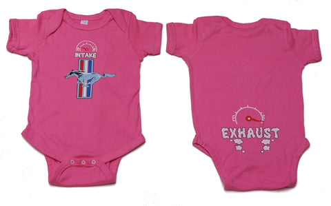 Ford Mustang infant onezie in pink