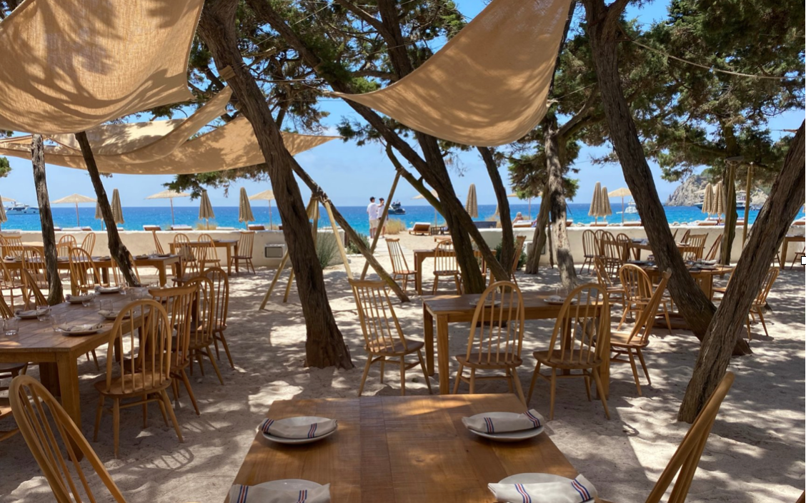 Views from seafood restaurant Casa Jondal in Ibiza