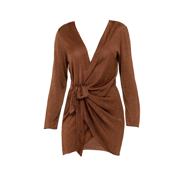 Madeira Wrap dress in Cinnamon