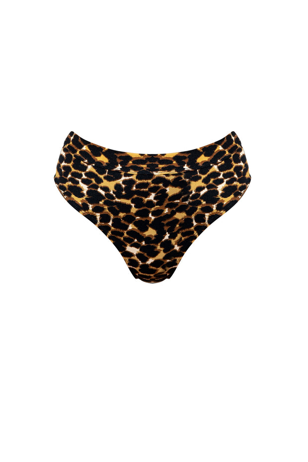 SIENNA Leopard Luxe  High waisted bikini bottoms