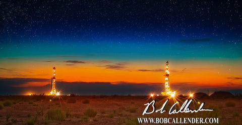 A Desert Evening Artist: Bob Callender - Bob Callender Fine Art oil and gas art