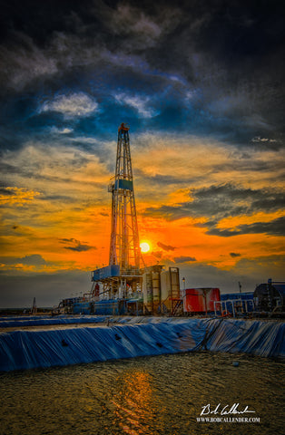 Beauty from the Pits Artist: Bob Callender - Bob Callender Fine Art oil and gas art