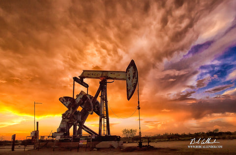 Bethlehem Pumpjack by Bob Callender - Bob Callender Fine Art oil and gas art