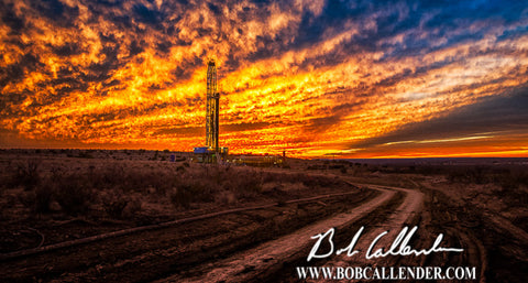 Black Gold Road Artist: Bob Callender - Bob Callender Fine Art oil and gas art