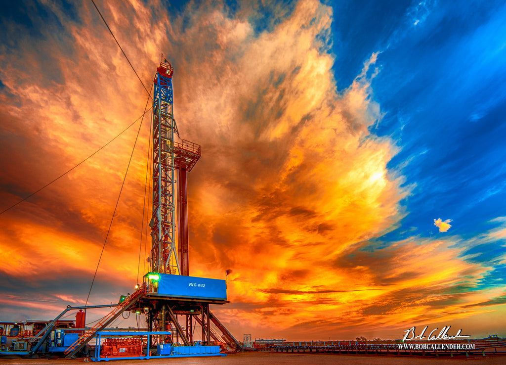 Fierce Sky Artist: Bob Callender - Bob Callender Fine Art oil and gas art