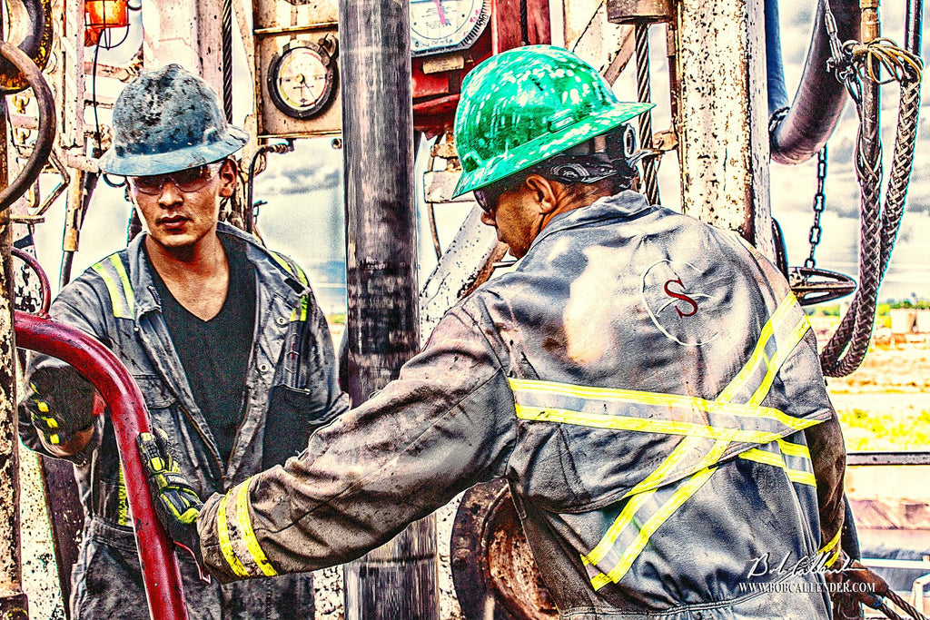 Getting it Done Artist: Bob Callender - Bob Callender Fine Art oil and gas art