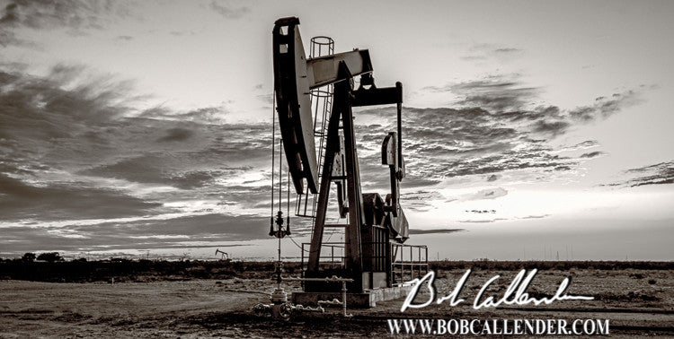 Indian Skies Black and White Artist: Bob Callender - Bob Callender Fine Art oil and gas art