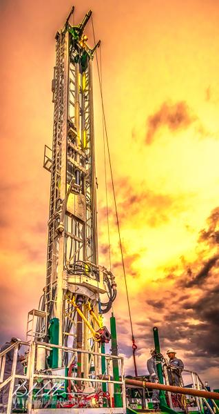 Integrity Rig 414 - Bob Callender Fine Art oil and gas art