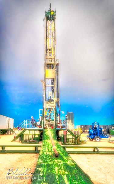 Integrity Rig 415 - Bob Callender Fine Art oil and gas art