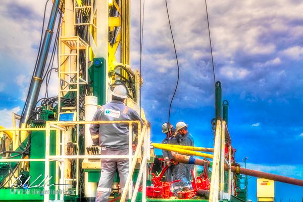 Integrity Rig 419 - Bob Callender Fine Art oil and gas art