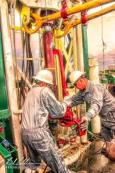 Integrity Rig 421 - Bob Callender Fine Art oil and gas art