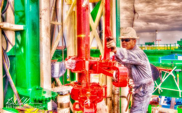 Integrity Rig 423 - Bob Callender Fine Art oil and gas art