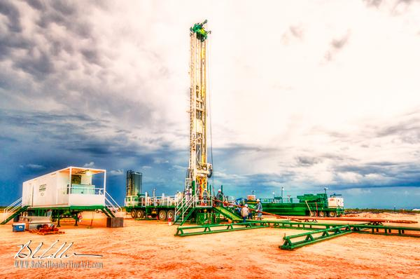 Integrity Rig 425 - Bob Callender Fine Art oil and gas art