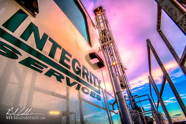 Integrity Rig 430 - Bob Callender Fine Art oil and gas art