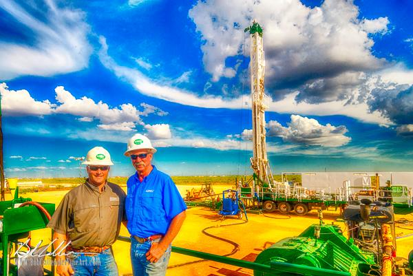 Integrity Rig 44 - Bob Callender Fine Art oil and gas art