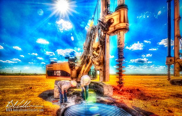 Integrity Surface Drill25 - Bob Callender Fine Art oil and gas art