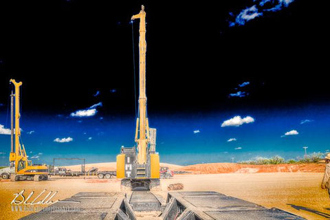 Integrity Surface Drill29 - Bob Callender Fine Art oil and gas art