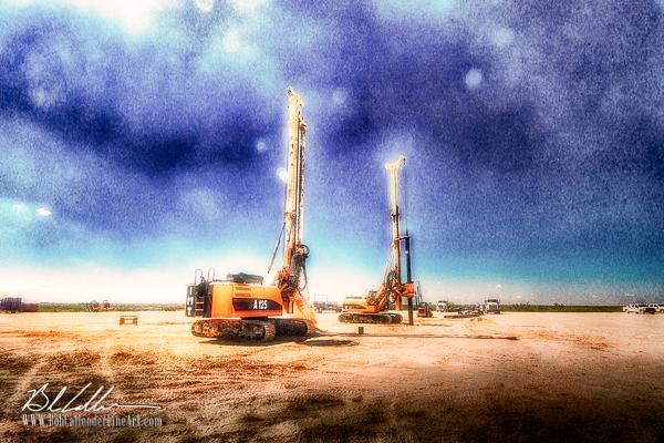 Integrity Surface Drill3 - Bob Callender Fine Art oil and gas art