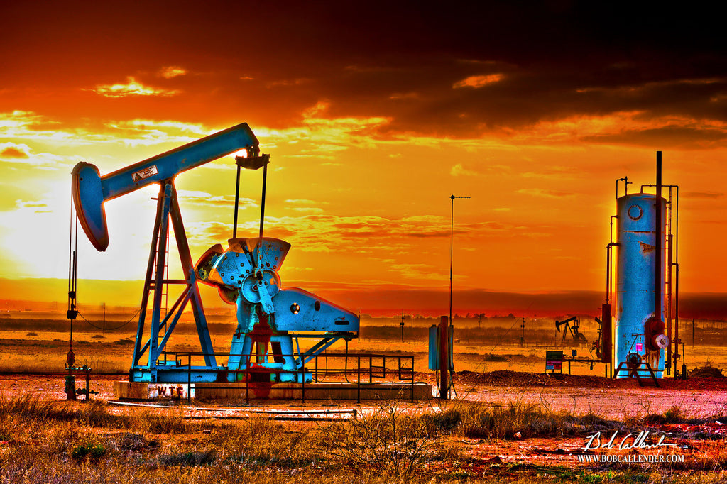 Jewel of the Basin by Bob Callender - Bob Callender Fine Art oil and gas art