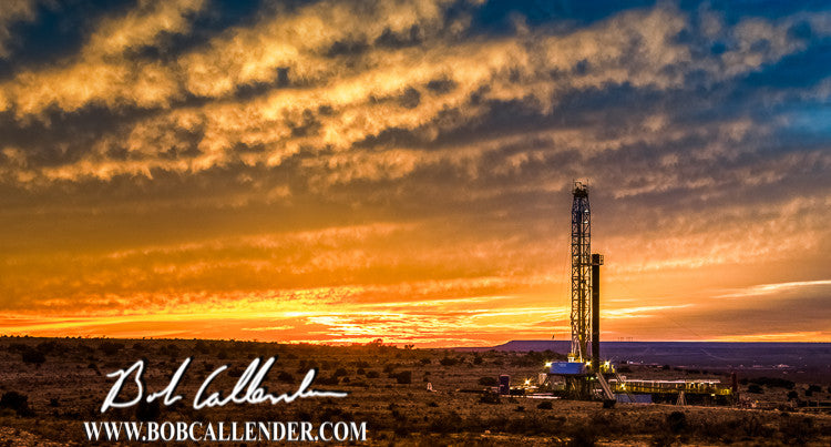 Purple Mesa  Artist: Bob Callender - Bob Callender Fine Art oil and gas art