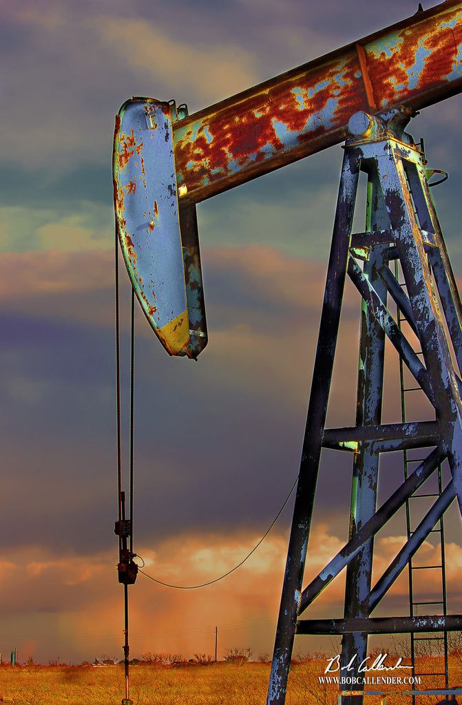 Rain or Shine - Bob Callender Fine Art oil and gas art