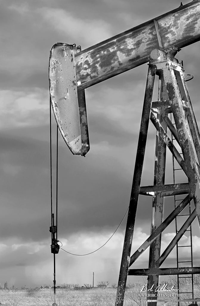 Rain or Shine Black & White Artist: Bob Callender - Bob Callender Fine Art oil and gas art