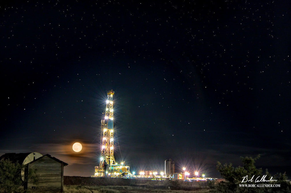 Moonlight Serenade by Bob Callender - Bob Callender Fine Art oil and gas art