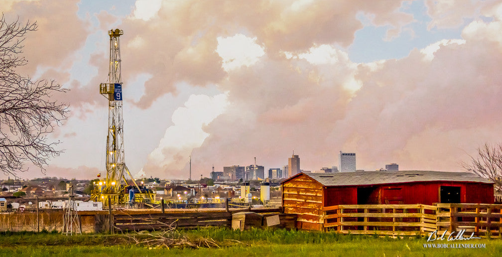 Backyard Drillin' by Bob Callender - Bob Callender Fine Art oil and gas art