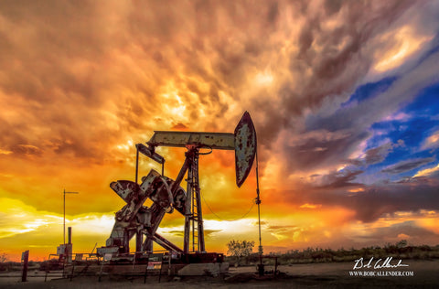 Bethlehem Pumpjack 3 Artist: Bob Callender - Bob Callender Fine Art oil and gas art