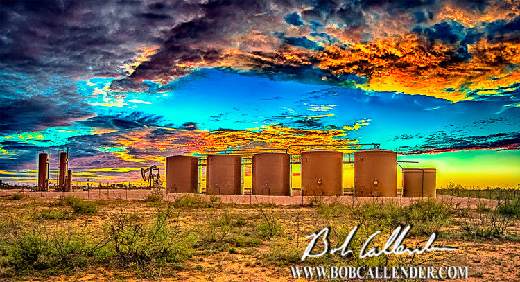 Colors of the Oilfield - Bob Callender Fine Art oil and gas art