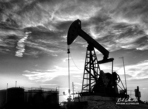 Intensity Black and White Artist: Bob Callender - Bob Callender Fine Art oil and gas art