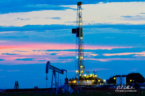 Painted Sky Artist: Bob Callender - Bob Callender Fine Art oil and gas art