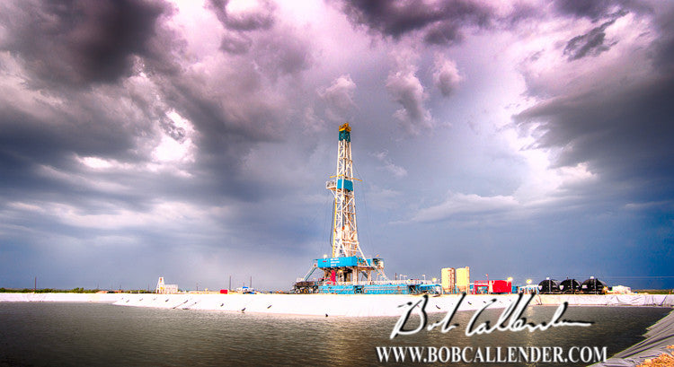 Stormy Reflections Artist: Bob Callender - Bob Callender Fine Art oil and gas art