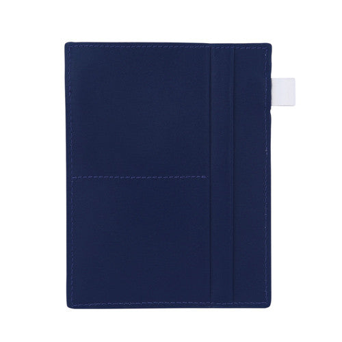 Curatelier Bon Voyage Top Grain Cowhide Leather Travel Organiser Passport Holder in Navy Blue (Front View)