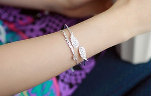 IOTC Angel's Wings Slim Bangle Stacked (Model View)