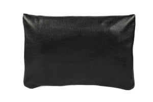 Velvet By Fridays On Curatelier Hayley Foldover Genuine Calf Leather Shoulder Bag in Black (Back View Without Strap)